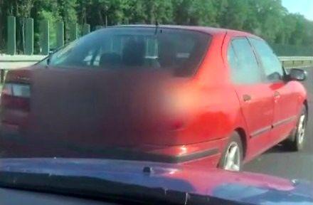 Agresja na A1 - Zatrzymanie pojazdu na środku autostrady