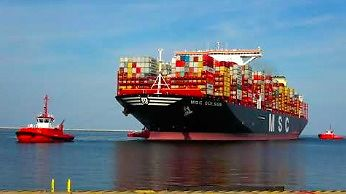 MSC GULSUN - największy kontenerowiec świata w Gdańsku