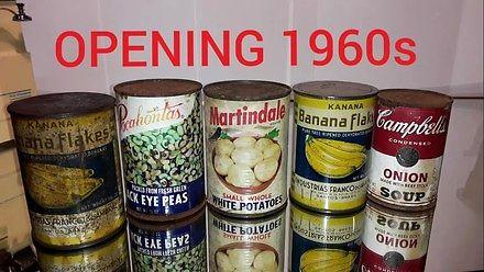 Otwieranie puszek wyprodukowanych w latach 50.