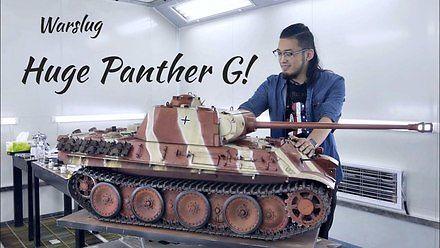 Malowanie ogromnego modelu RC czołgu Panther Ausf. G