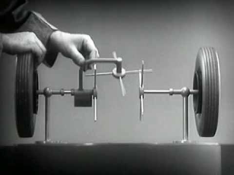 Omówienie działania mechanizmu różnicowego na filmiku z 1937 roku