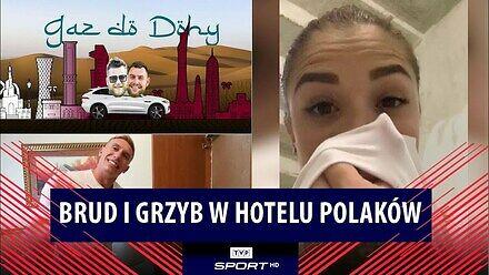 Gaz do Dohy: brud, grzyb, zamurowana szafa i... uśmiechy Polaków