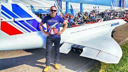 Zdalnie sterowany, latający model Concorde'a w skali 1:6