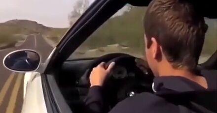 Zabrał auto ojcu, żeby sobie poszaleć na drodze
