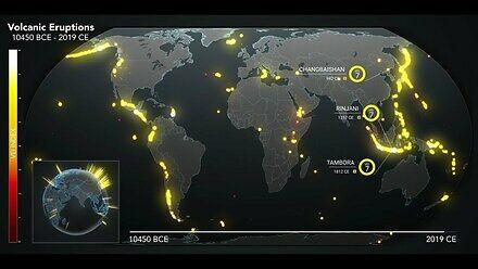Dziesięć tysięcy lat erupcji wulkanicznych w 90 sekund