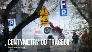 Motocykl w Lublinie pędził wprost na przechodniów