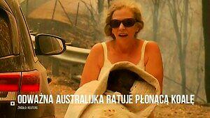 Bohaterska postawa Australijki. Uratowała poparzoną koalę z płomieni