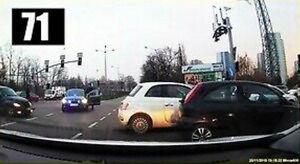 Blokowanie skrzyżowania i szybka reakcja policji