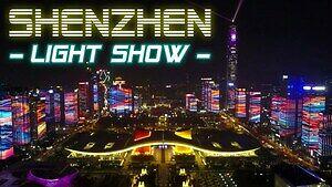 Czterdziestolecie Shenzhen - piękny pokaz light show