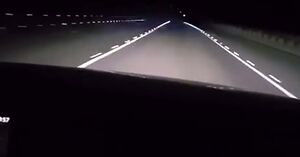 Eksperymentalne oświetlenie drogi w Rosji