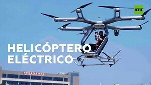 Jednoosobowy helikopter elektryczny - pokaz