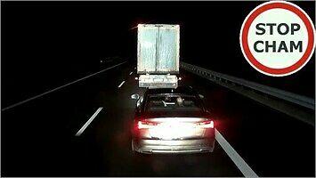 Szeryf drogowy chciał ukarać kierowcę tira... i się na tym przejechał