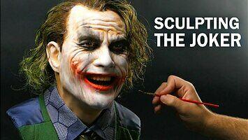 Bardzo realistyczna rzeźba Jokera