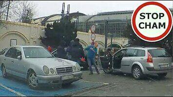 Starcie francuskiego kierowcy z taksówkarzami we Wrocławiu