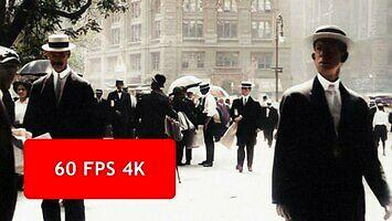 Nowy Jork z 1911 roku w 4K i 60 fps