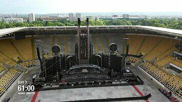 Timelapse z przygotowania stadionu na koncert zespołu Rammstein