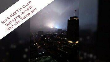 Tornado przeszło obok operatora żurawia budowlanego