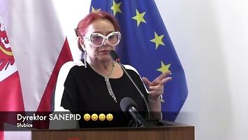To nie kabaret, to dyrektorka sanepidu opowiada o koronawirusie w Polsce