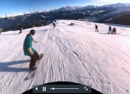 Zjazd na nartach w 360 stopniach!