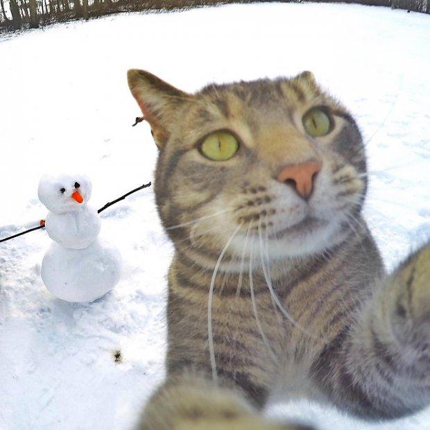 selfie-snowman