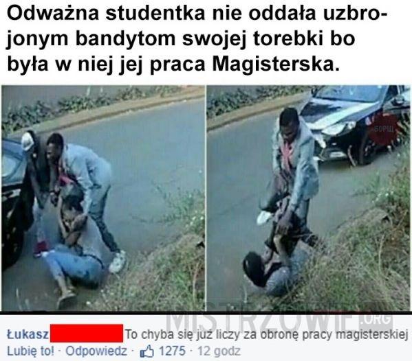 Odważna studentka –