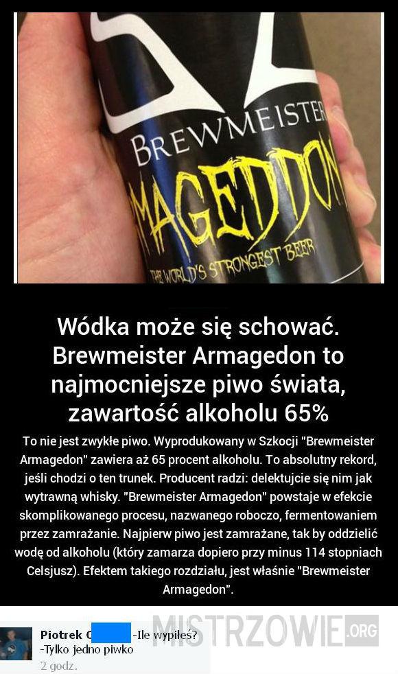 Mocne piwo –